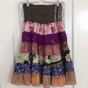 Patchwork Multicolor Skirt